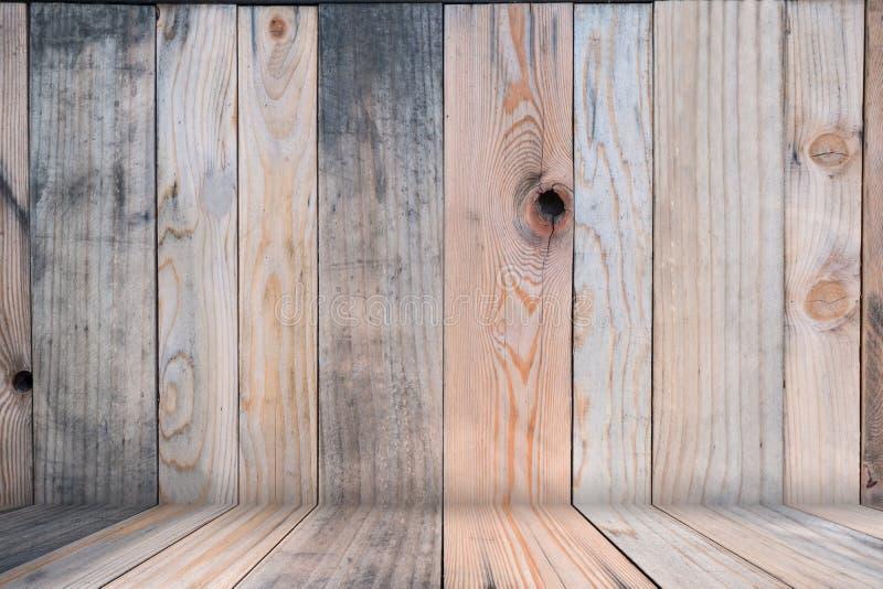 Di legno vuoti di fondo astratto marrone, deridono su per il modello fotografia stock
