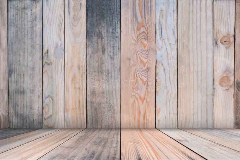 Di legno vuoti di fondo astratto marrone, deridono su per il modello fotografie stock