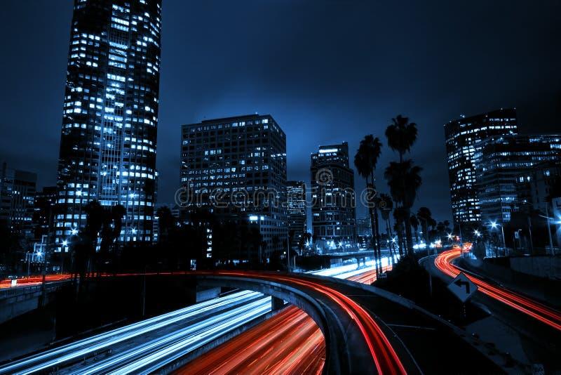 Di Los Angeles città giù fotografia stock