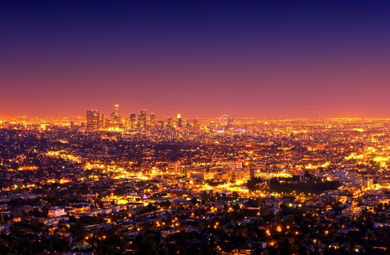 Di Los Angeles città giù immagini stock