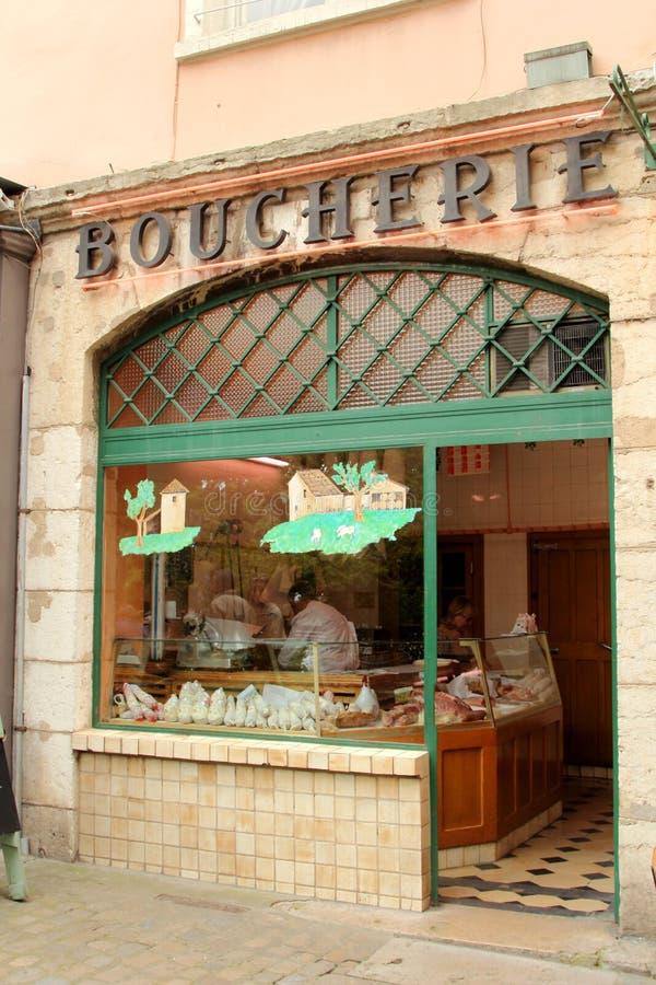 Di macelleria in Francia immagine stock libera da diritti