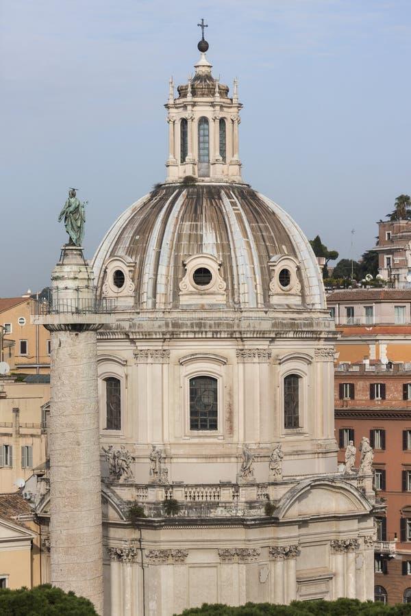 Di Maria al Foro Traiano Church de Santissimo Nome roma imagen de archivo libre de regalías