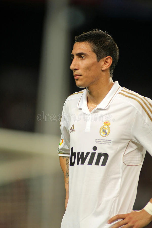 Di Maria von Real Madrid lizenzfreies stockbild