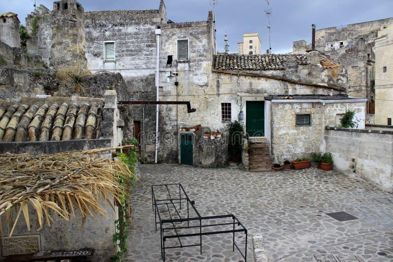 Di Matera Sassi, Италия, европейская столица культуры 2019 стоковые изображения rf
