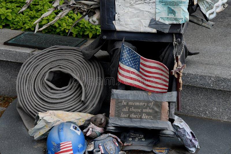 9/11 di memoriale degli S.U.A. sfida il vigile del fuoco fotografia stock