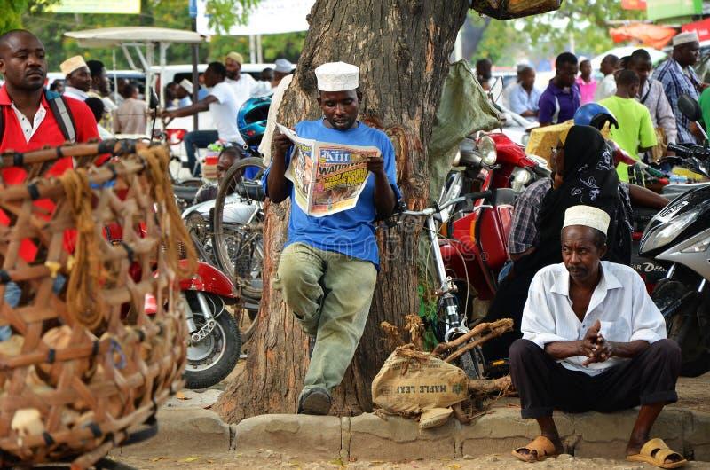 Di mercato, città di pietra, Zanzibar fotografia stock