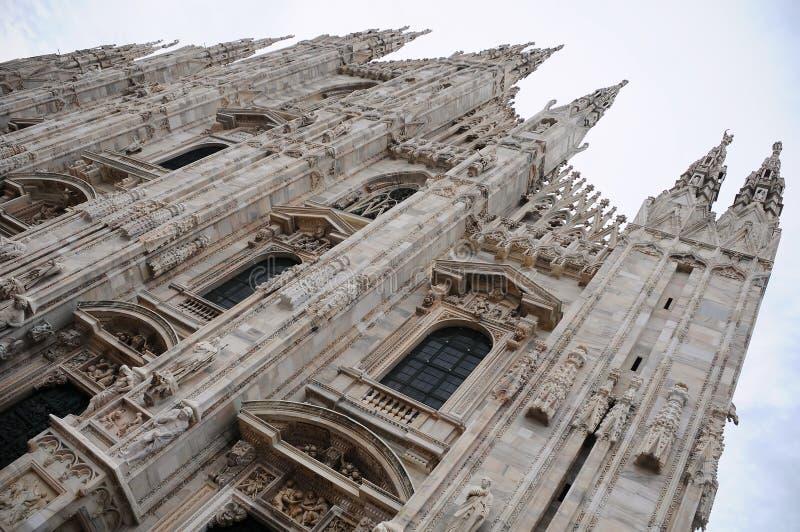 Di Milaan van Duomo stock afbeeldingen