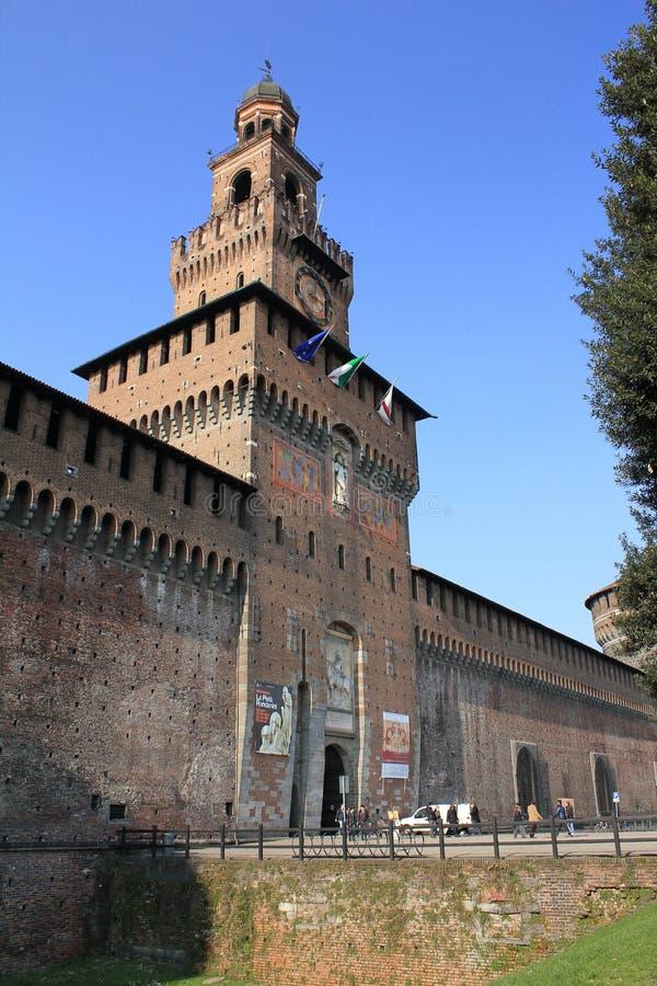 Di Milan de Castello Sforzesco images stock
