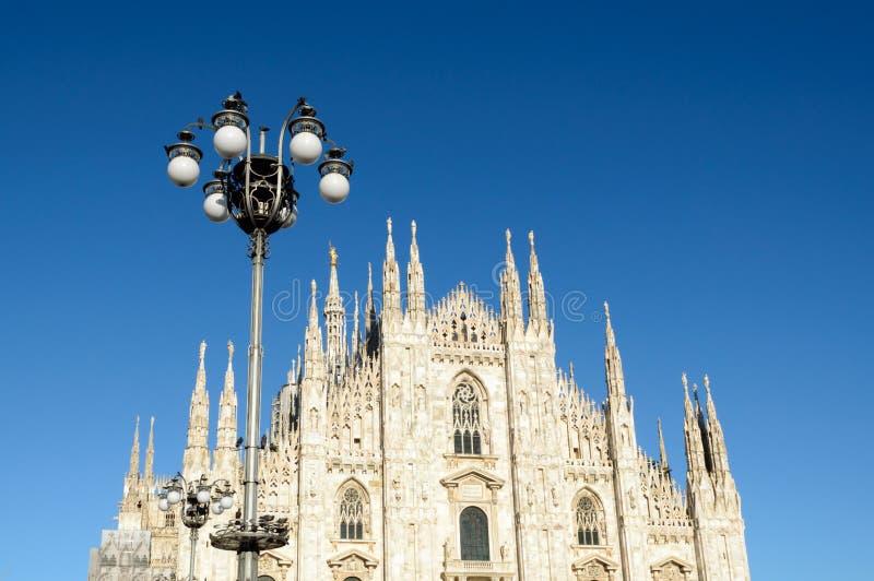 Di Milano - Milan Dome del Duomo Catedral antigua en Italia septentrional fotografía de archivo