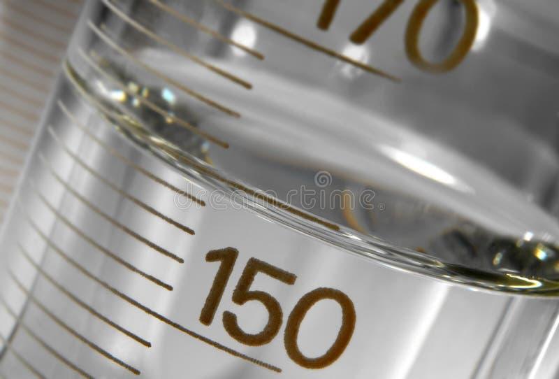 Di misuratore e menisco. fotografia stock libera da diritti
