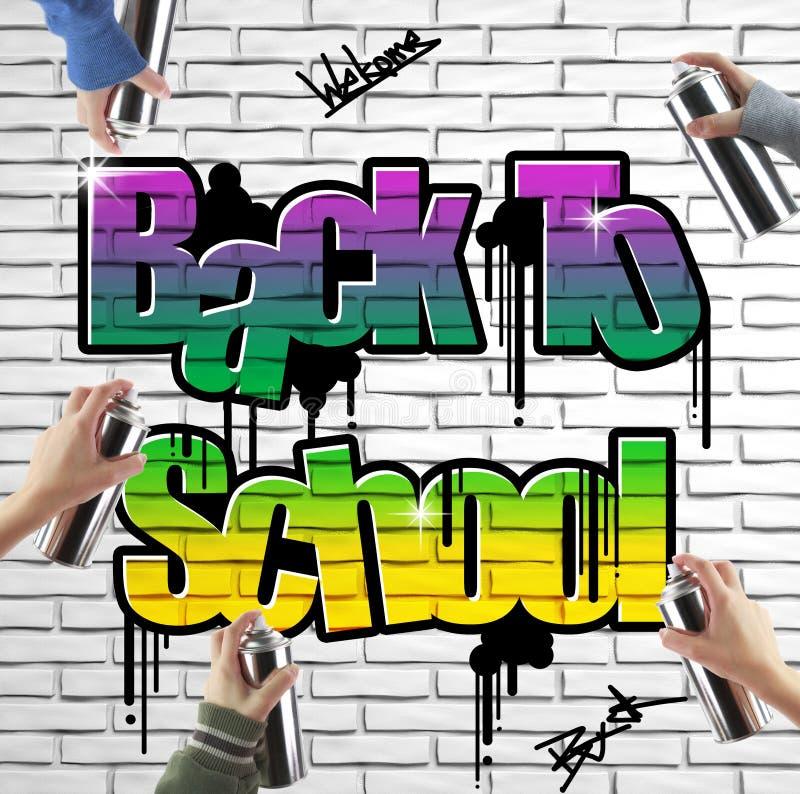 Di nuovo ai graffiti della scuola illustrazione di stock for Scuola di comunicazione