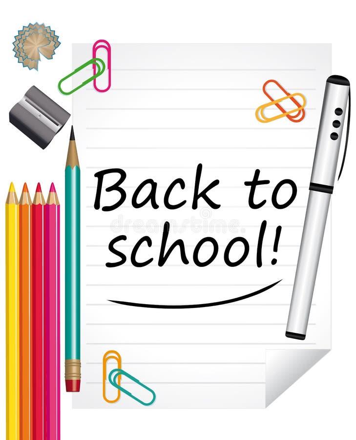 Di nuovo alla scuola! Fondo II di istruzione royalty illustrazione gratis