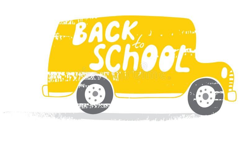 Di nuovo allo scuolabus illustrazione vettoriale
