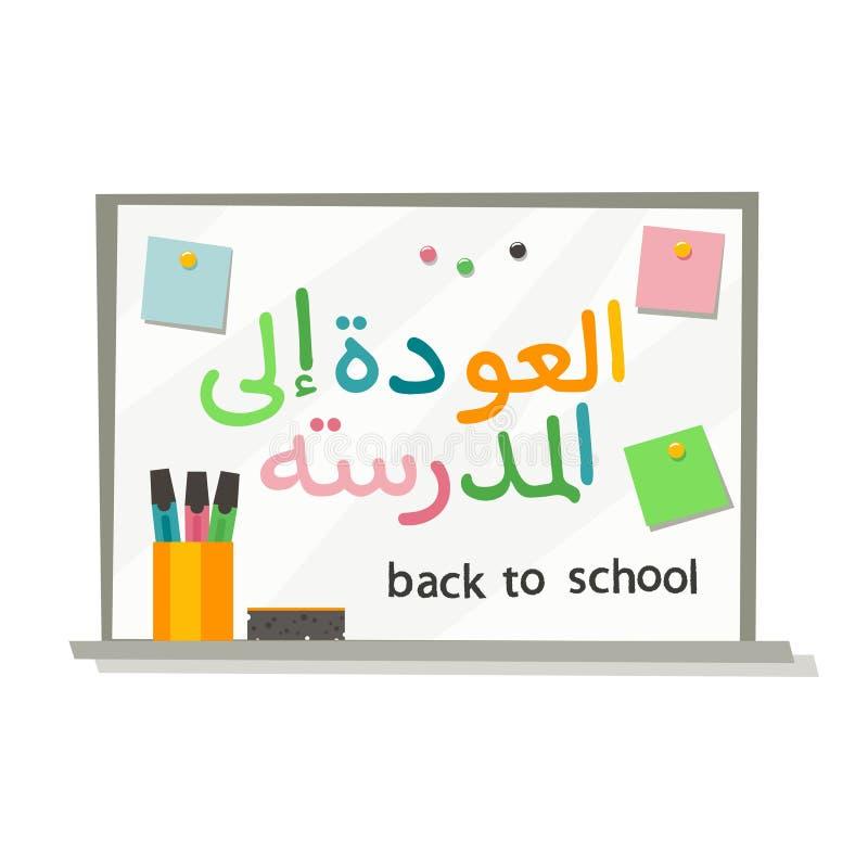 Di nuovo a stile piano di calligrafia araba della scuola royalty illustrazione gratis