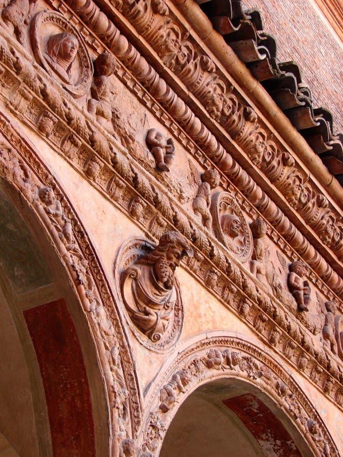 Di Pavia de Certosa, decorações imagens de stock