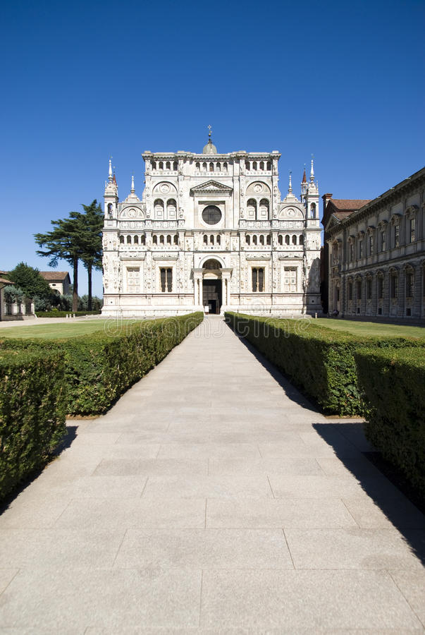 Di Pavia de Certosa. Monastério italiano fotos de stock royalty free