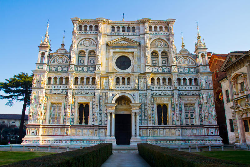 Di Pavia van Certosa royalty-vrije stock foto's