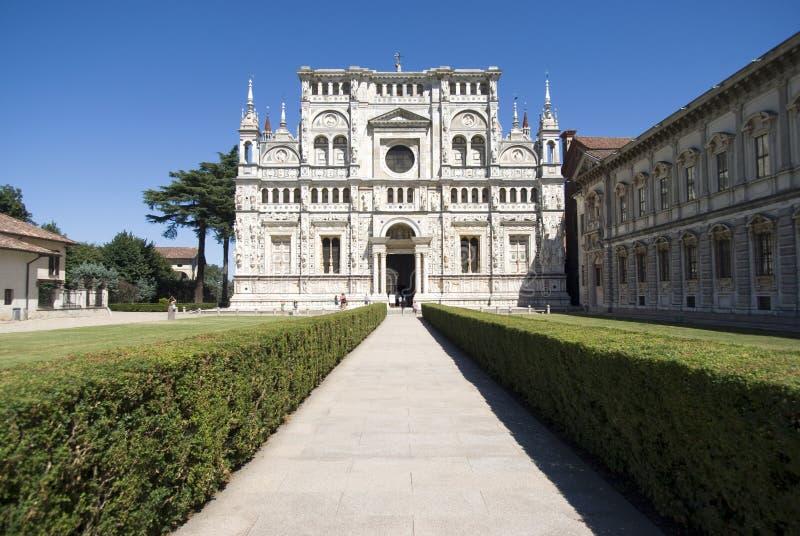Di Pavie de Certosa. Monastère italien photos libres de droits