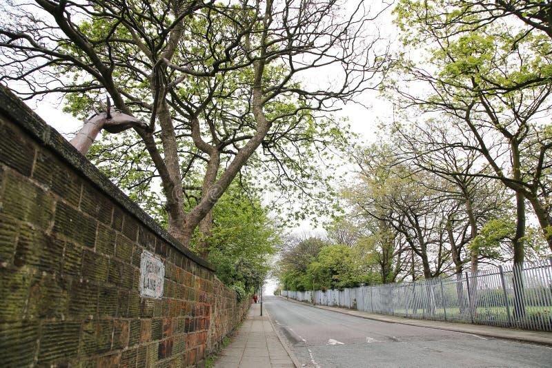 Di Penny Lane, Liverpool del strada del famosa del La foto de archivo libre de regalías