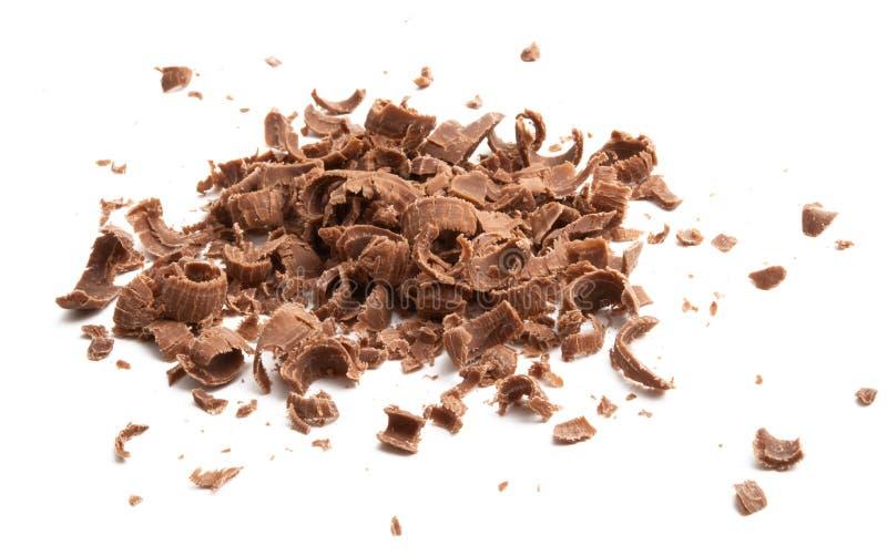Di pepita di cioccolato isolati immagine stock libera da diritti