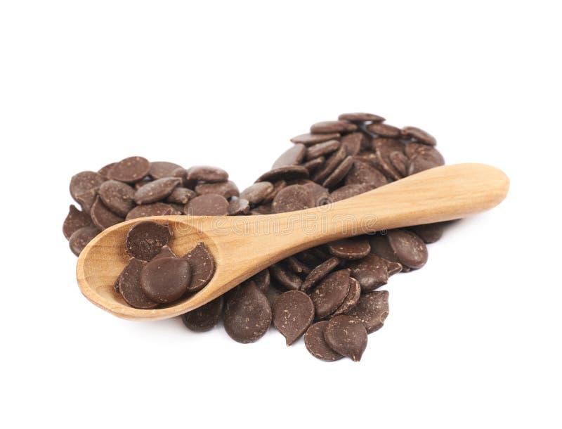 Di pepita di cioccolato isolati fotografia stock libera da diritti