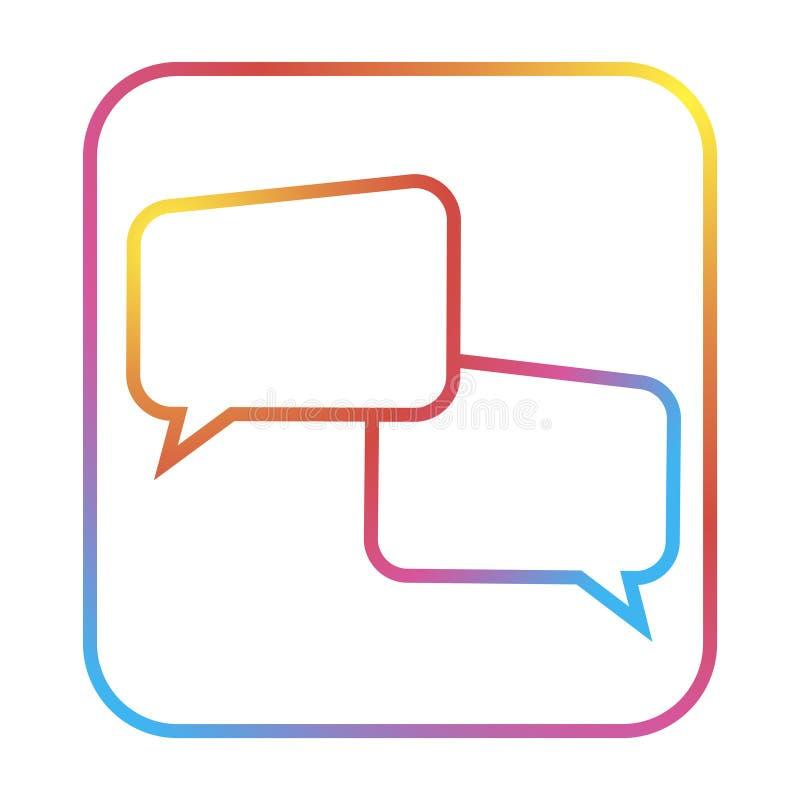 Di pi? per dire l'icona di chiacchierata Linea buble icona di concetto di chiacchierata Illustrazione semplice dell'elemento illustrazione vettoriale
