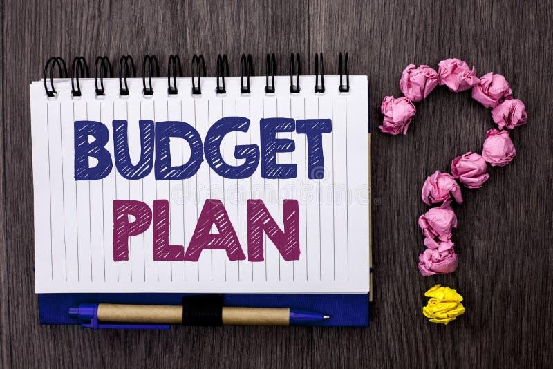 Di piano di bilancio del testo della scrittura Strategia di contabilità di significato di concetto che stanzia economia finanziar immagini stock libere da diritti