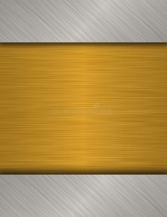 Di piastra metallica illustrazione vettoriale