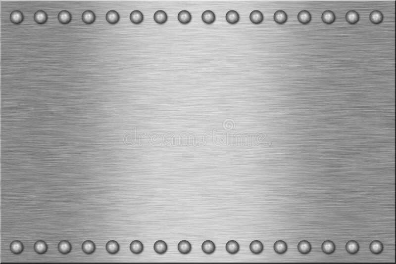 Di piastra metallica immagini stock