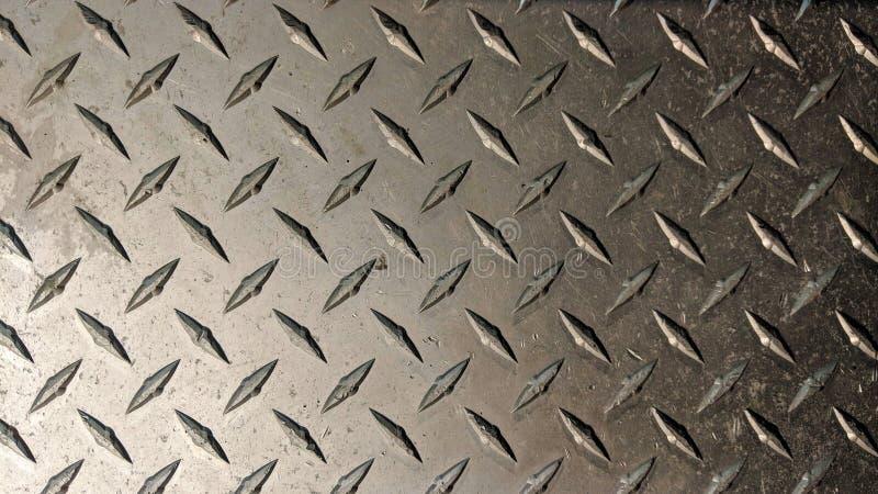 Di piastra metallica antiscorrimento consumato illustrazione di stock