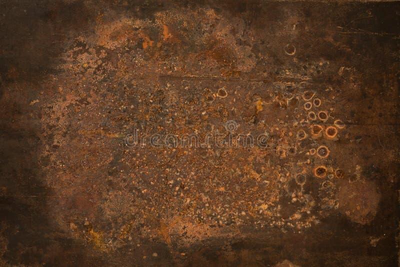 Di piastra metallica corroso Grungy fotografia stock