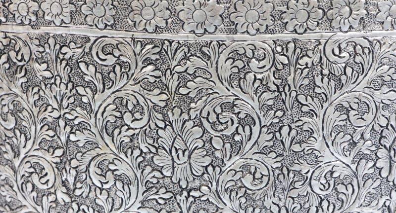 Di piastra metallica d'argento di struttura fotografia stock libera da diritti