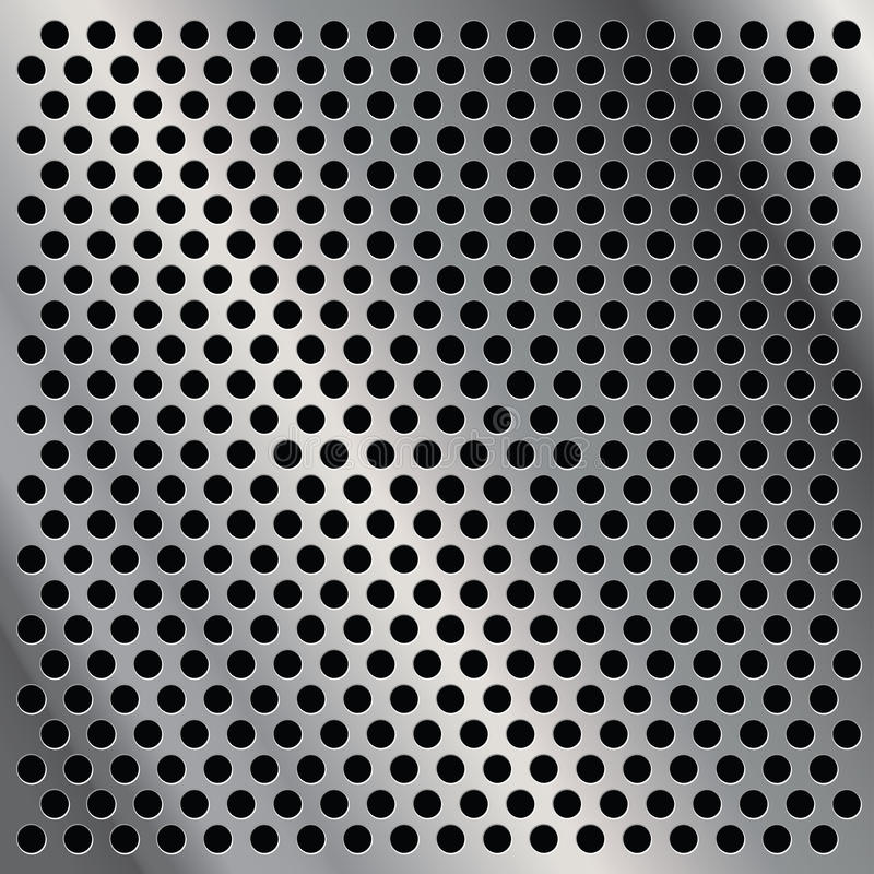Di piastra metallica perforato illustrazione di stock