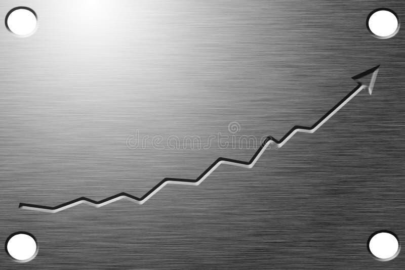 Di piastra metallica spazzolato illustrazione di stock