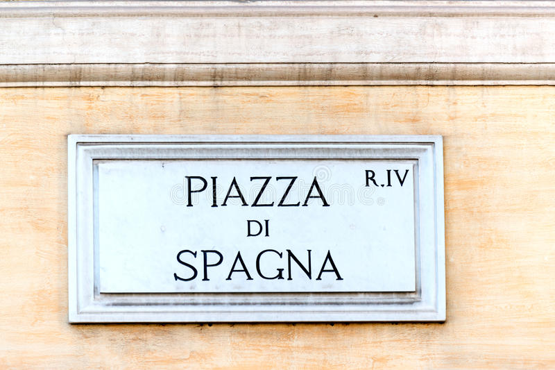 di piazza spagna 免版税库存图片