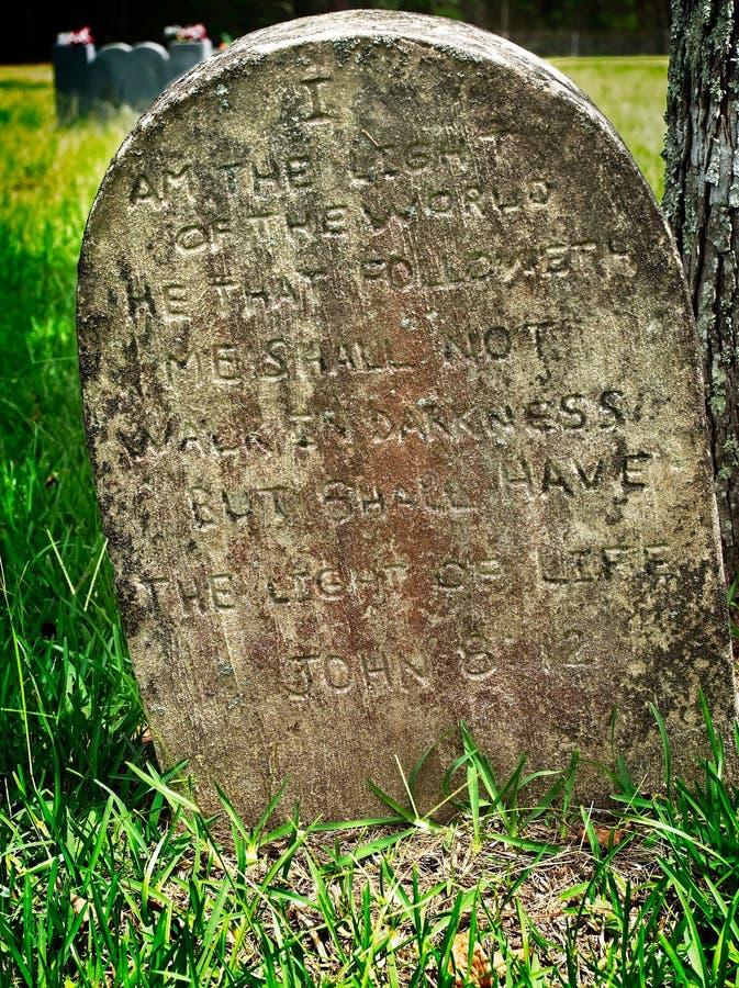 8:12 di pietra grave di John immagini stock