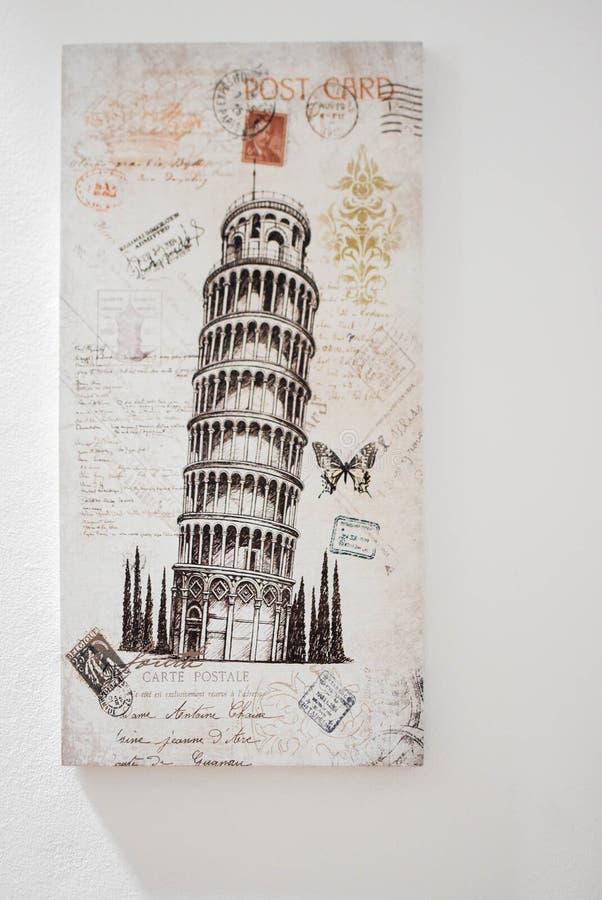 Di Pisa del pendente de Torre foto de archivo