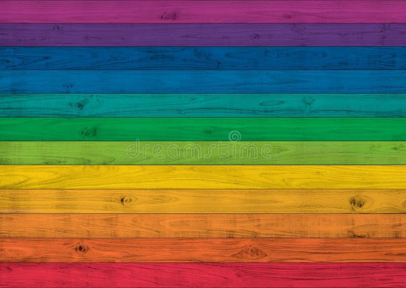 Di pittura colorata multi della plancia di legno, illustrazione senza cuciture di struttura fotografie stock libere da diritti