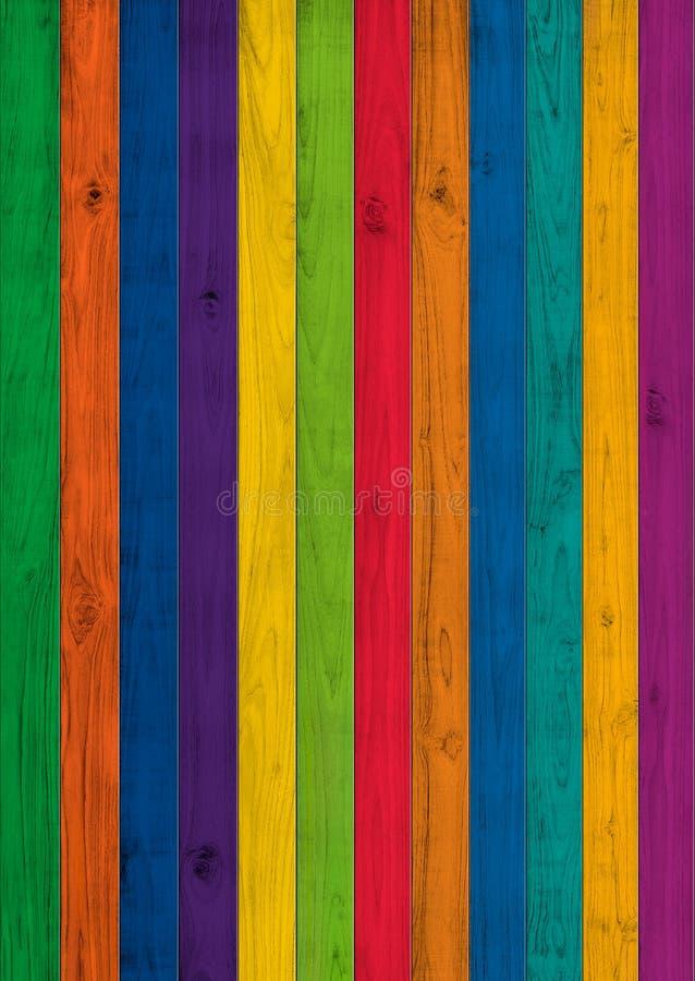 Di pittura colorata multi della plancia di legno, illustrazione senza cuciture di struttura immagini stock libere da diritti