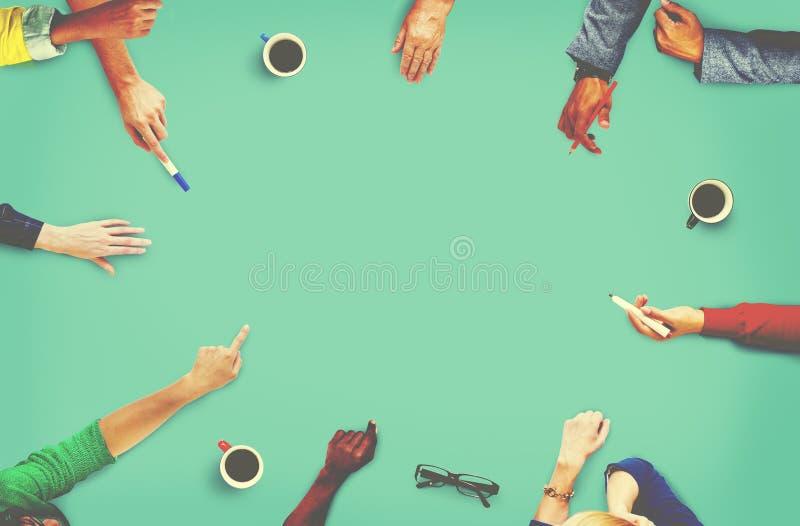 Di riunione di comunicazione di concetto di pianificazione gente di affari fotografia stock