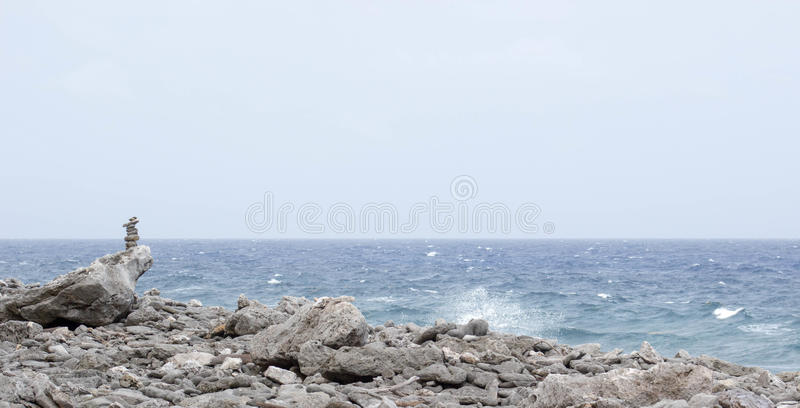 Di roccia e del mare fotografia stock libera da diritti
