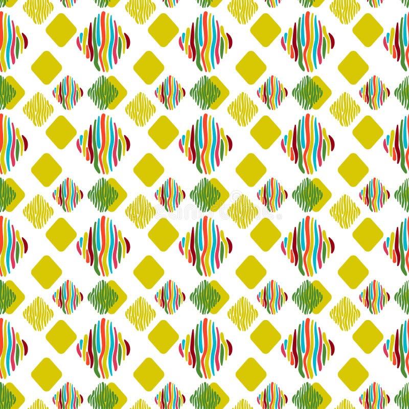 di rombi colorati Multi su un fondo bianco illustrazione di stock