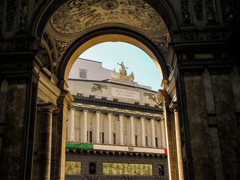 Di San Carlo de Teatro, Nápoles foto de stock royalty free
