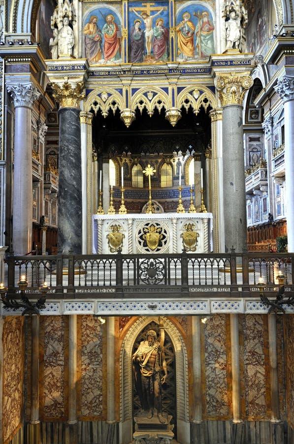 Di San Giovanni da basílica em Laterano, Roma, Itália fotos de stock