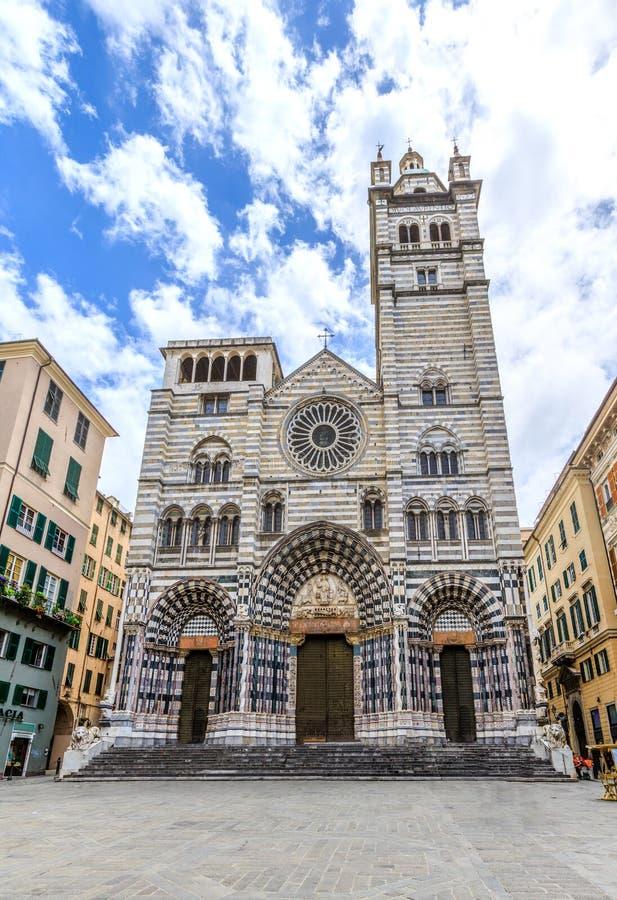 Di San Lorenzo de Cattedrale en Génova foto de archivo