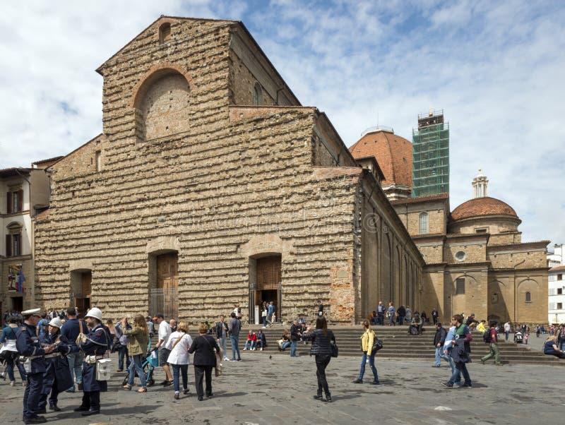 Di San Lorenzo, Florencia de la basílica imagenes de archivo