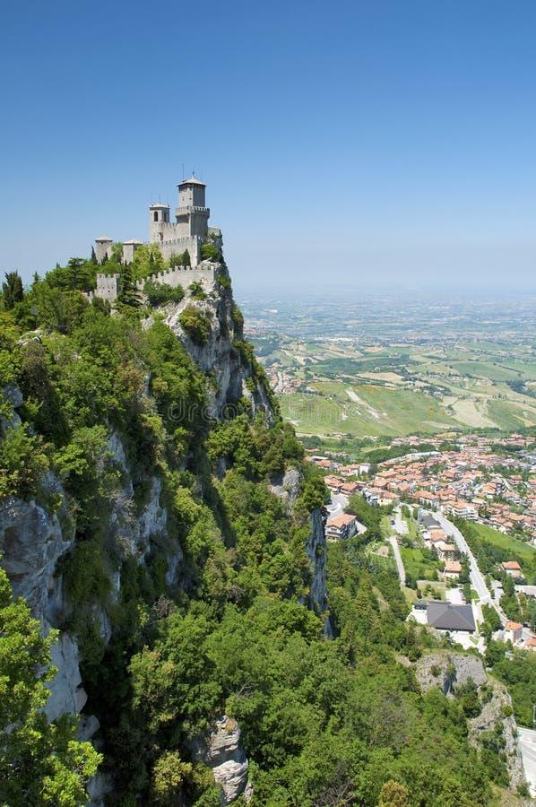 Di San Marino - prima torretta Guaita Vert di Repubblica immagine stock