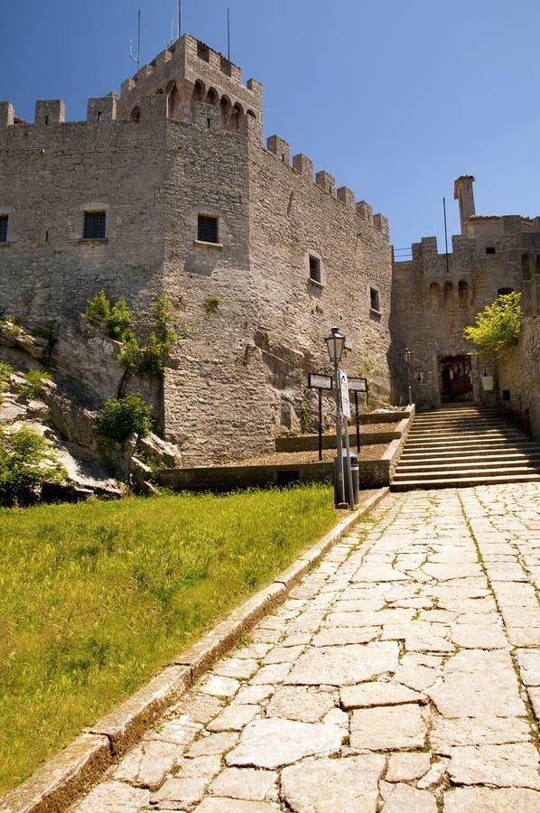 Di San Marino - segunda torre Rocca Cest de Repubblica imagen de archivo libre de regalías