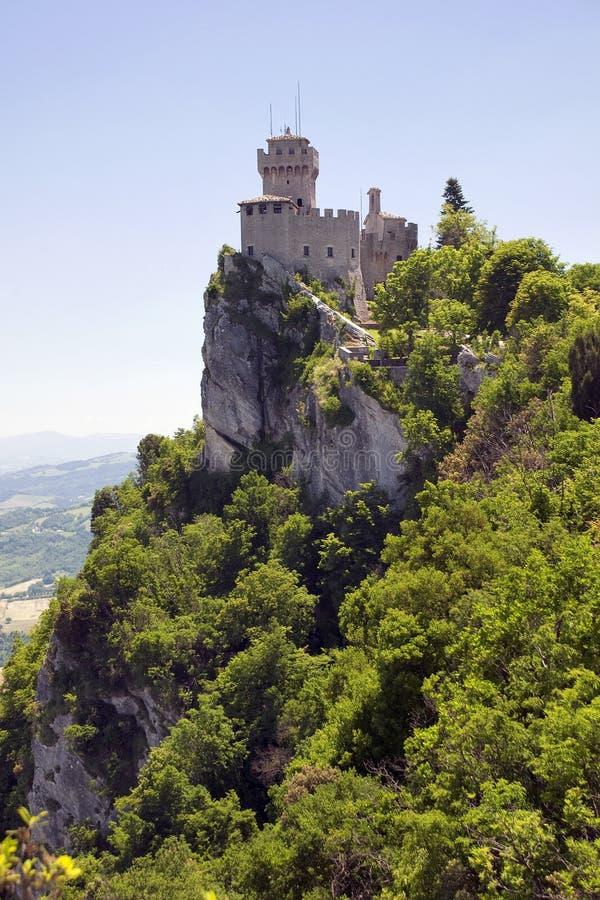 Di San Marino - segunda torre Rocca Cest de Repubblica fotografía de archivo