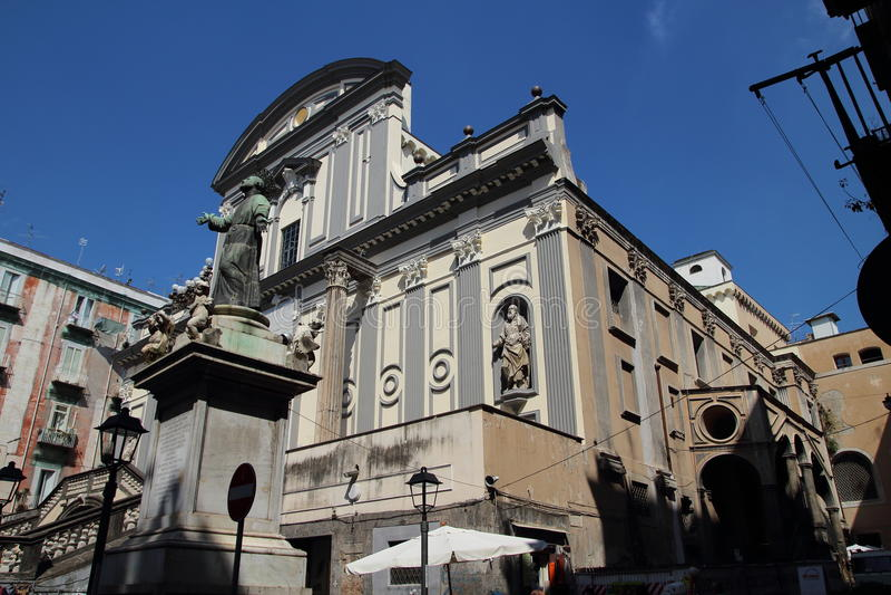 Di San Paolo Maggiore базилики, Неаполь стоковое фото rf